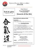 Stage GHAAN : 29 mai 2011 - AIKIDO - ISSY-LES-MOULINEAUX (F-92130)