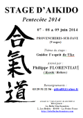Stage : Philippe FLORENTIAU - 07 - 08 & 09 juin 2014 - AIKIDO - PROVENCHERES-SUR-FAVE (F-88)