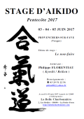 Stage : 19 - 20 & 21 mai 2018 - AIKIDO - PROVENCHERES-SUR-FAVE (F-88) - Philippe FLORENTIAU ( Kyoshi / Reiken )